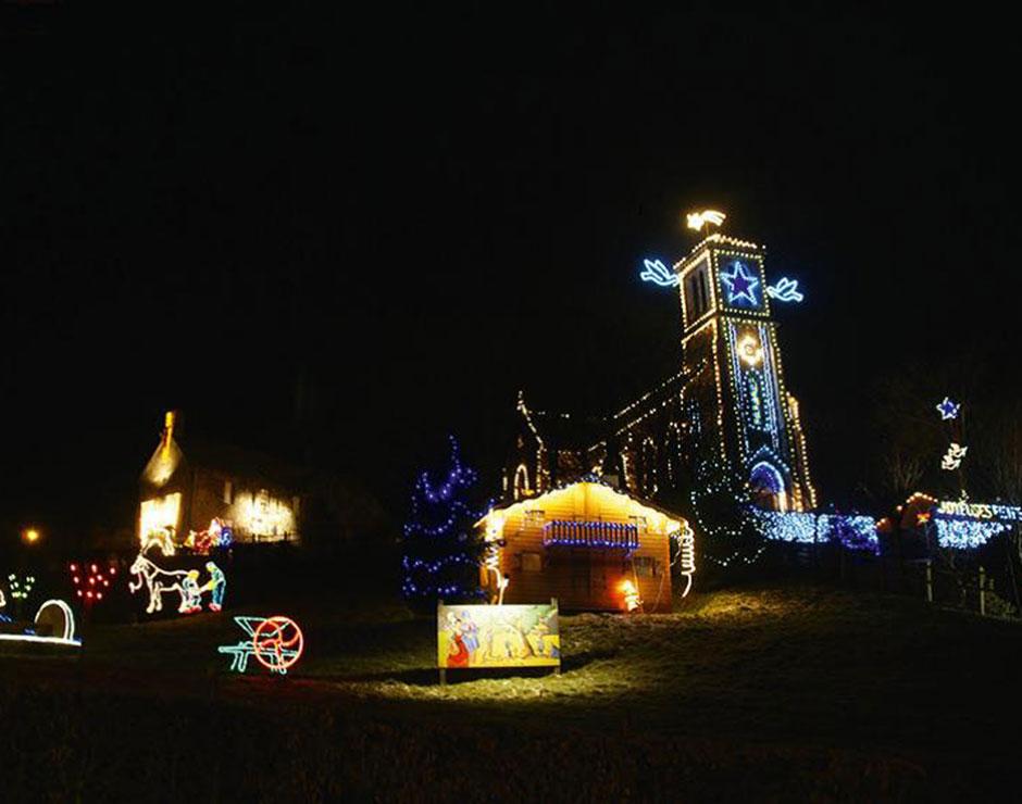 Village illumines